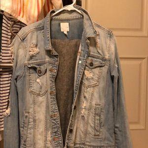 Denim distressed jacket